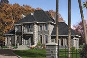 European Style House Plan - 4 Beds 2.5 Baths 3269 Sq/Ft Plan #138-339 Exterior - Front Elevation