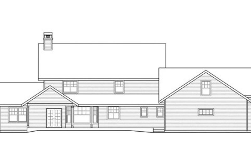 Traditional Exterior - Rear Elevation Plan #124-837 - Houseplans.com