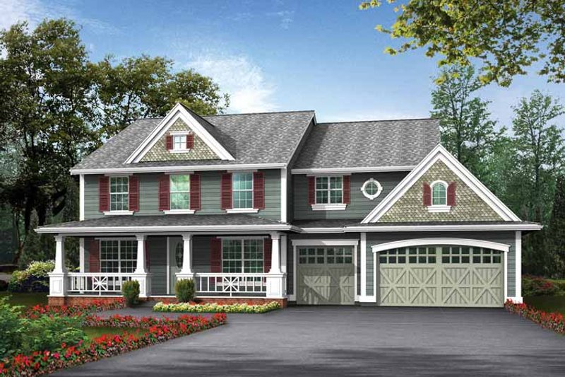 Dream House Plan - Craftsman Exterior - Front Elevation Plan #132-309