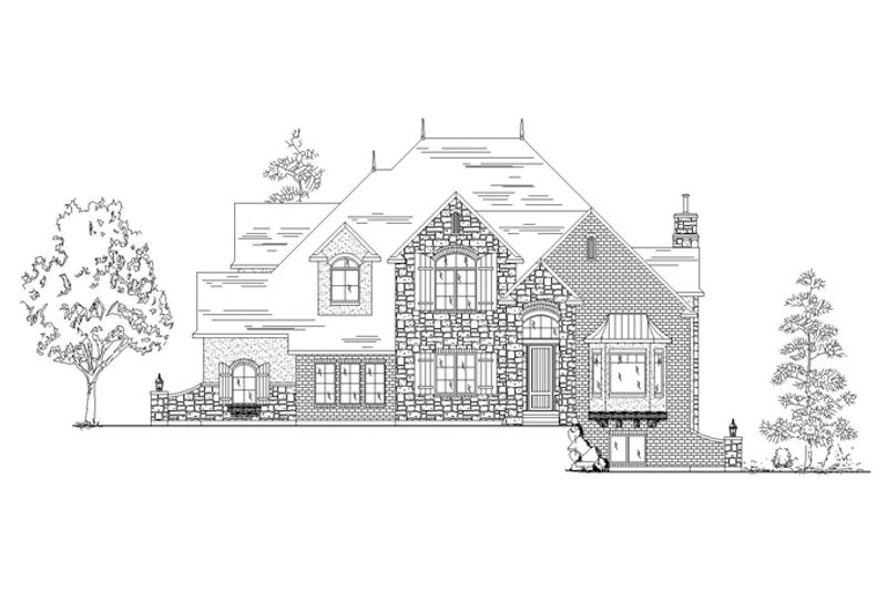 European Exterior - Front Elevation Plan #945-137