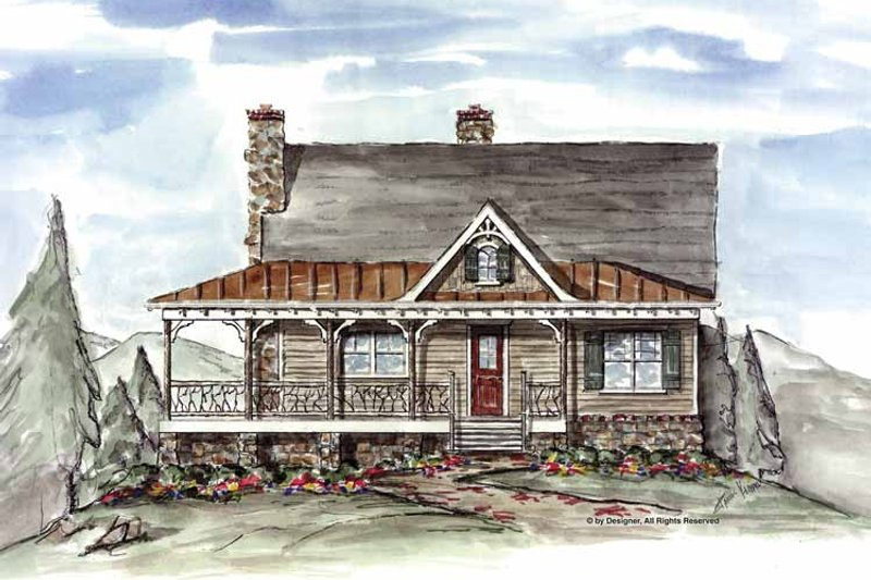 Dream House Plan - Craftsman Exterior - Front Elevation Plan #54-310