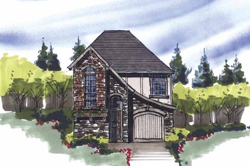 Country Exterior - Front Elevation Plan #509-132 - Houseplans.com
