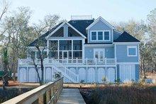 Dream House Plan - Country Exterior - Rear Elevation Plan #37-253
