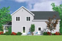 House Blueprint - Country Exterior - Rear Elevation Plan #72-1116