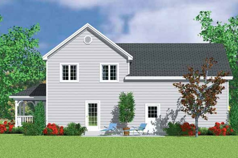 Country Exterior - Rear Elevation Plan #72-1116 - Houseplans.com