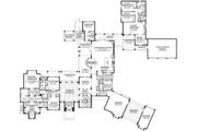 Mediterranean Style House Plan - 8 Beds 6.5 Baths 7174 Sq/Ft Plan #1058-151 Floor Plan - Main Floor Plan