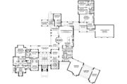 Mediterranean Style House Plan - 8 Beds 6.5 Baths 7174 Sq/Ft Plan #1058-151 Floor Plan - Main Floor