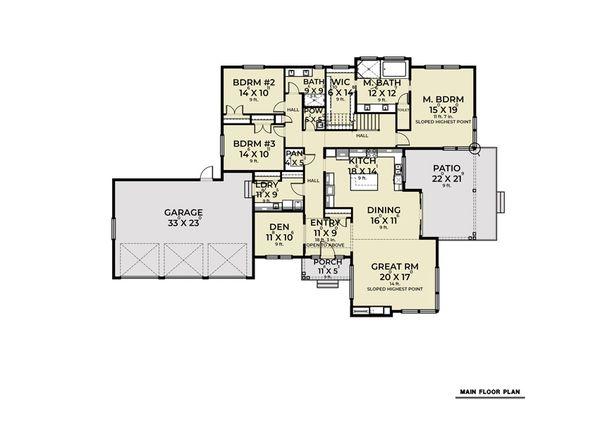 Home Plan Design - Contemporary Floor Plan - Main Floor Plan #1070-115