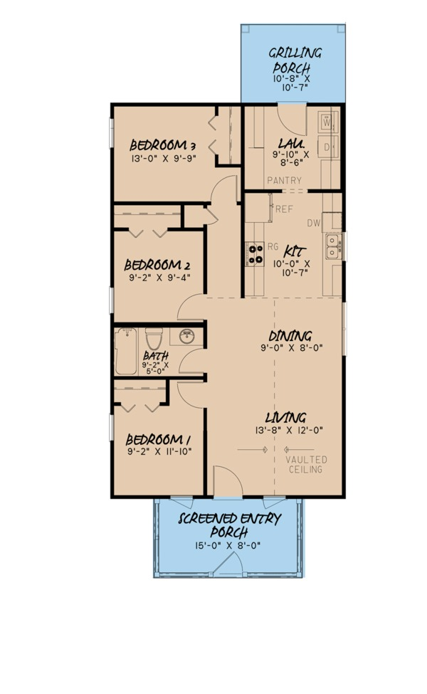 Country Floor Plan - Main Floor Plan Plan #923-99