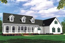 House Plan Design - Country Exterior - Front Elevation Plan #21-417