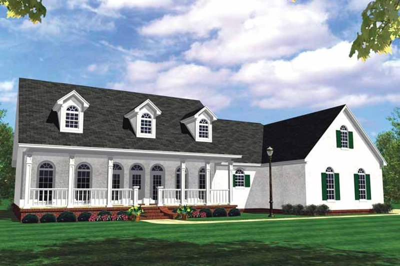 Country Exterior - Front Elevation Plan #21-417 - Houseplans.com