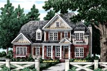 Tudor Exterior - Front Elevation Plan #927-313