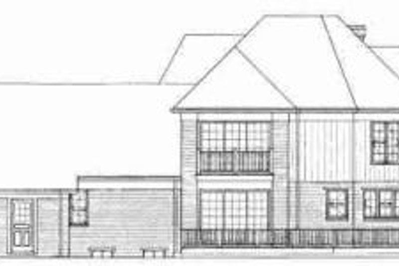 Traditional Exterior - Rear Elevation Plan #72-312 - Houseplans.com