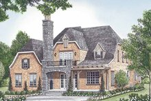 House Plan Design - European Exterior - Rear Elevation Plan #453-580