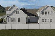 Farmhouse Style House Plan - 6 Beds 4.5 Baths 4658 Sq/Ft Plan #1060-48 Exterior - Rear Elevation