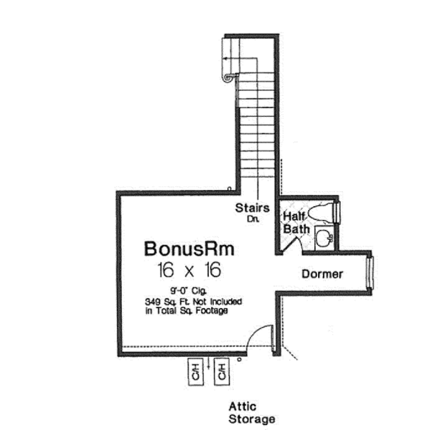 Architectural House Design - European Floor Plan - Other Floor Plan #310-1263