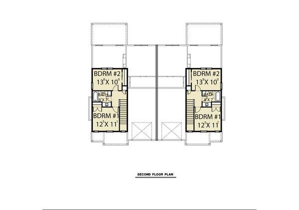 Craftsman Floor Plan - Upper Floor Plan #1070-95