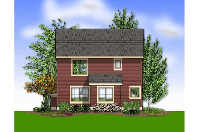 Craftsman Exterior - Rear Elevation Plan #48-436 - Houseplans.com