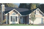Cottage Style House Plan - 2 Beds 2 Baths 1252 Sq/Ft Plan #320-340 Exterior - Front Elevation