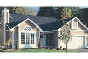 Cottage Exterior - Front Elevation Plan #320-340