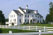 Colonial Style House Plan - 4 Beds 5 Baths 5387 Sq/Ft Plan #137-230 Exterior - Front Elevation