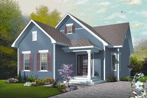 Country Exterior - Front Elevation Plan #23-780