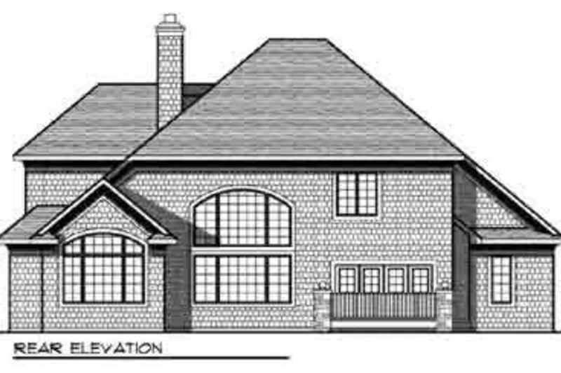 European Exterior - Rear Elevation Plan #70-849 - Houseplans.com