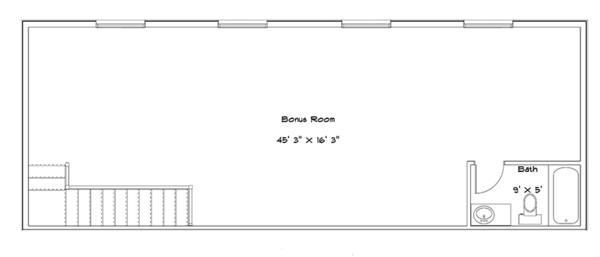 Traditional Floor Plan - Upper Floor Plan Plan #1060-20