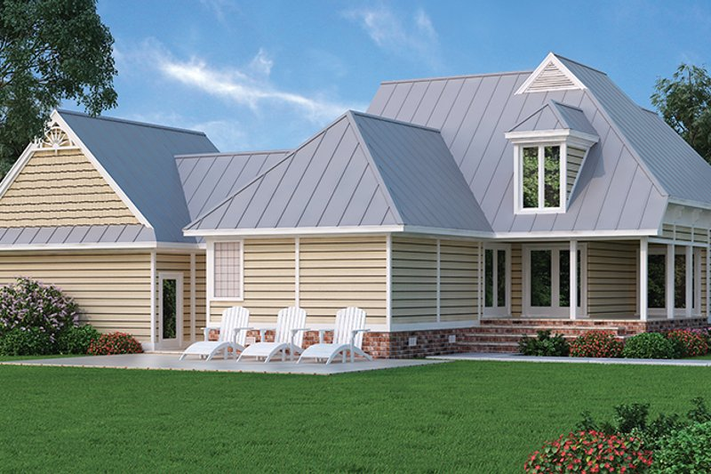 Country Exterior - Rear Elevation Plan #45-399 - Houseplans.com