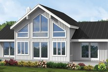 House Plan Design - Contemporary Exterior - Rear Elevation Plan #1061-8