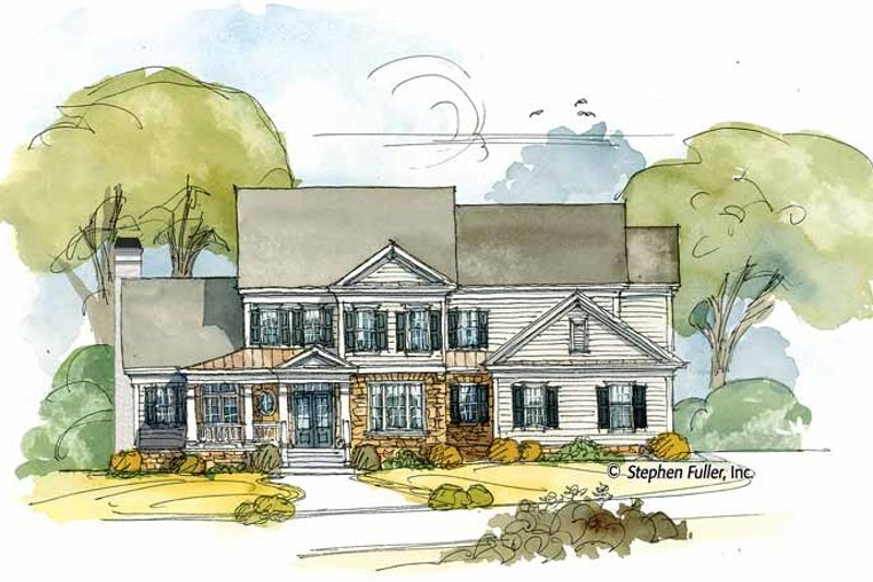 Colonial Exterior - Front Elevation Plan #429-395