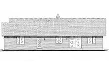 House Blueprint - Ranch Exterior - Rear Elevation Plan #18-9546