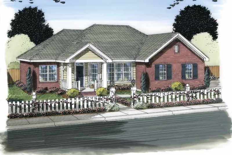 House Plan Design - Traditional Exterior - Front Elevation Plan #513-2152