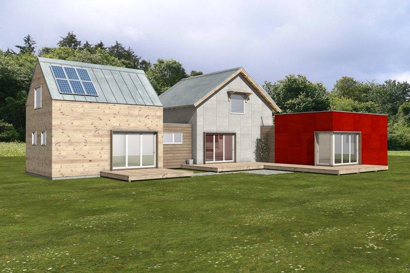 Dream House Plan - Modern Exterior - Front Elevation Plan #497-56