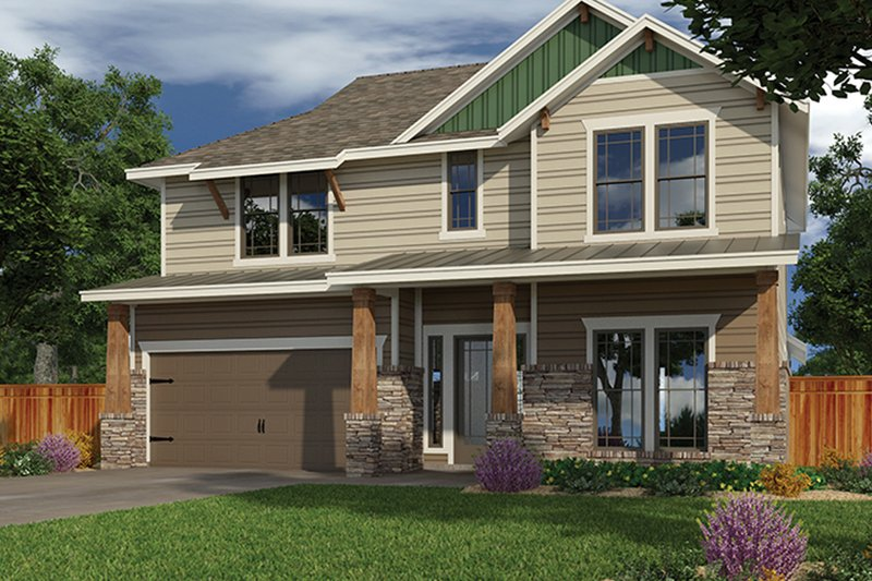 Craftsman Exterior - Front Elevation Plan #472-437 - Houseplans.com