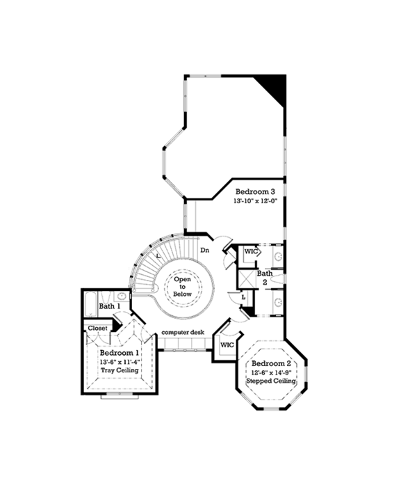 Victorian Floor Plan - Upper Floor Plan Plan #930-238
