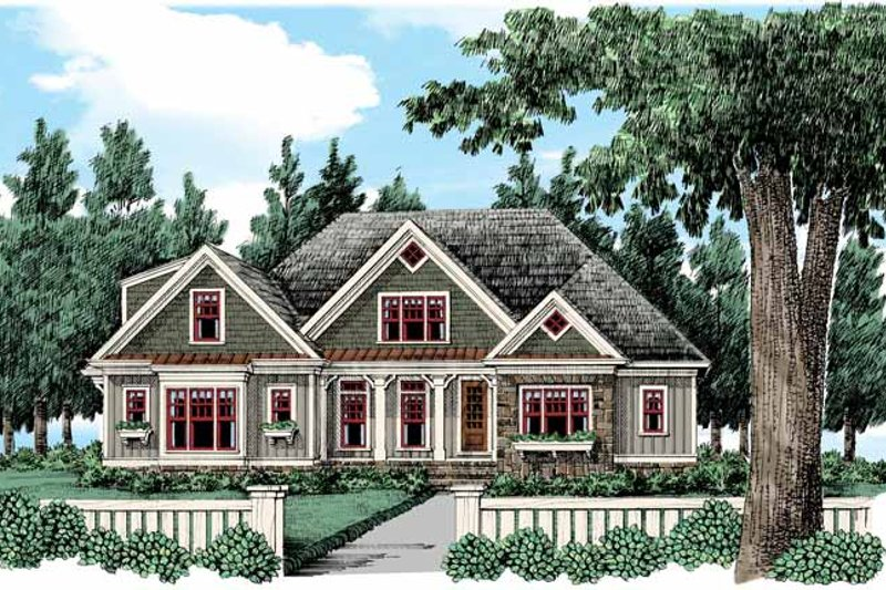 Bungalow Exterior - Front Elevation Plan #927-432