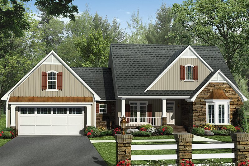 House Plan Design - European Exterior - Front Elevation Plan #21-439