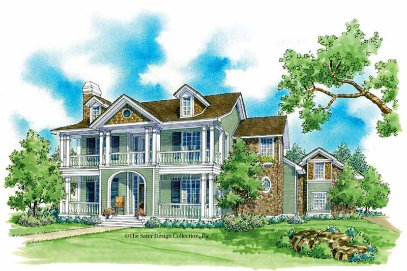 Victorian Exterior - Front Elevation Plan #930-221