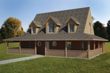 Colonial Exterior - Front Elevation Plan #1061-16