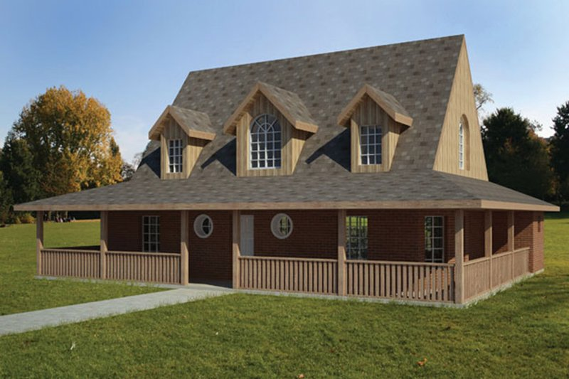 Colonial Exterior - Front Elevation Plan #1061-16 - Houseplans.com