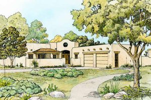 Dream House Plan - Mediterranean Exterior - Front Elevation Plan #140-168