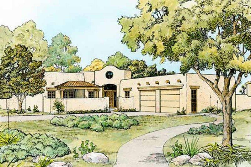 House Design - Mediterranean Exterior - Front Elevation Plan #140-168