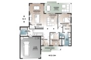 Farmhouse Style House Plan - 2 Beds 1.5 Baths 1556 Sq/Ft Plan #23-2679 Floor Plan - Main Floor