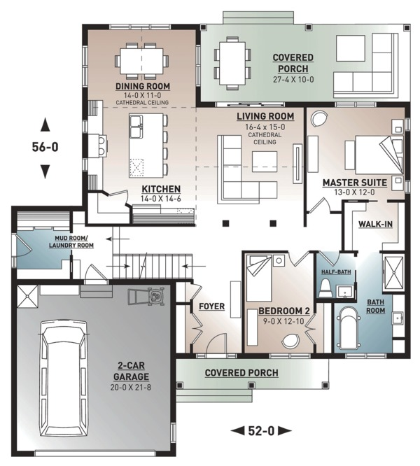 Farmhouse Floor Plan - Main Floor Plan Plan #23-2679