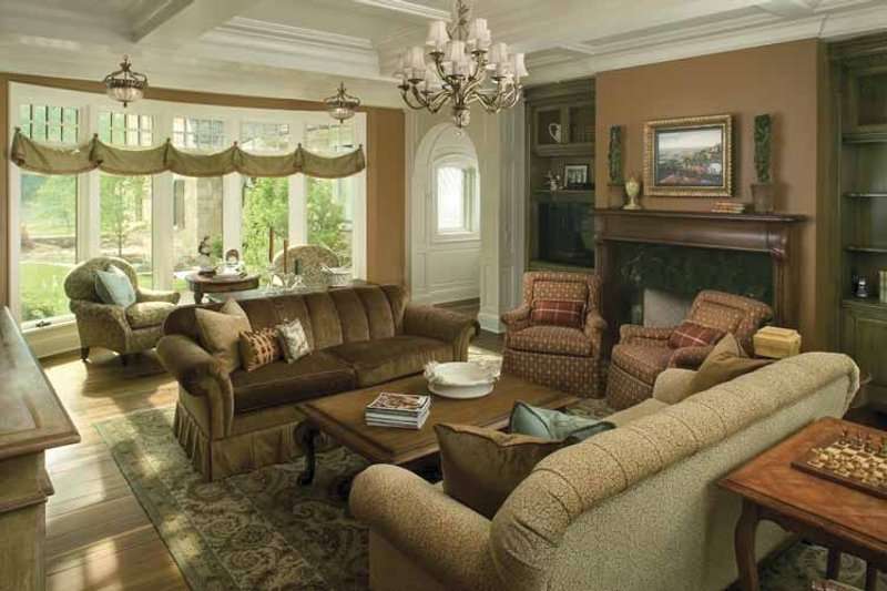 Country Interior - Family Room Plan #928-183 - Houseplans.com