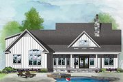 Farmhouse Style House Plan - 3 Beds 2 Baths 1645 Sq/Ft Plan #929-1055 Exterior - Rear Elevation