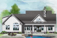 House Design - Farmhouse Exterior - Rear Elevation Plan #929-1055