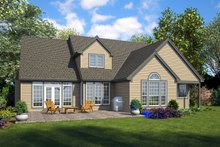 House Plan Design - European Exterior - Rear Elevation Plan #48-931