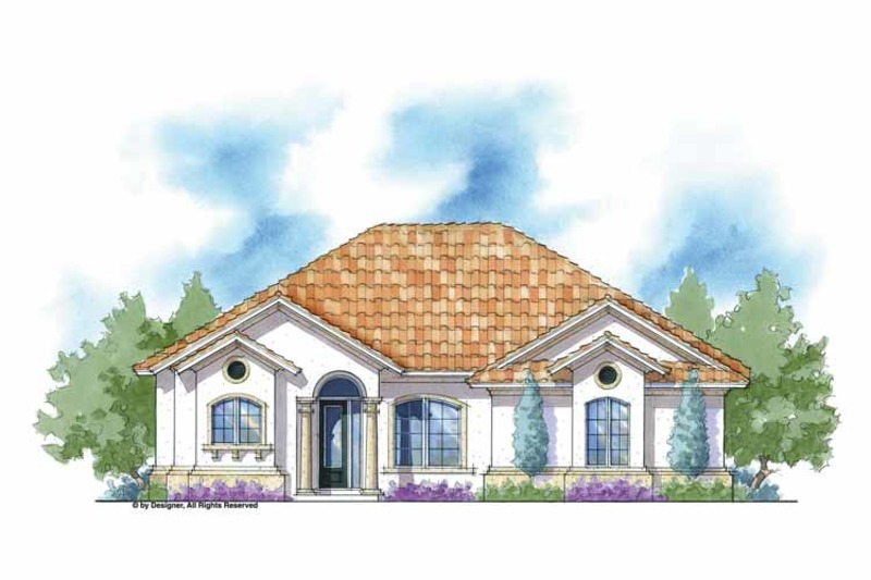 Mediterranean Exterior - Front Elevation Plan #938-23 - Houseplans.com